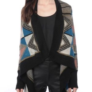 BB Dakota Clooney Southwest Open Cardigan Sweater